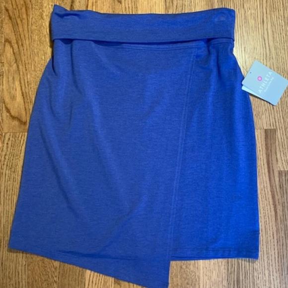 f86787b03 Athleta Skirts | Nwt Blue Faux Wrap Athletic Skirt Size M | Poshmark
